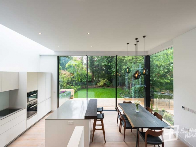 Aluminium sliding Hi-finity doors from Southern Windows, Canfield Gardens, NW10