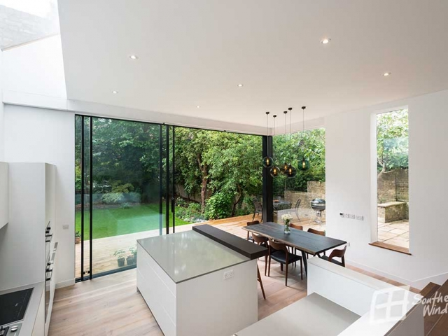 Hi Finity Sliding doors installed by Southern Windows, Canfield Gardens NW6