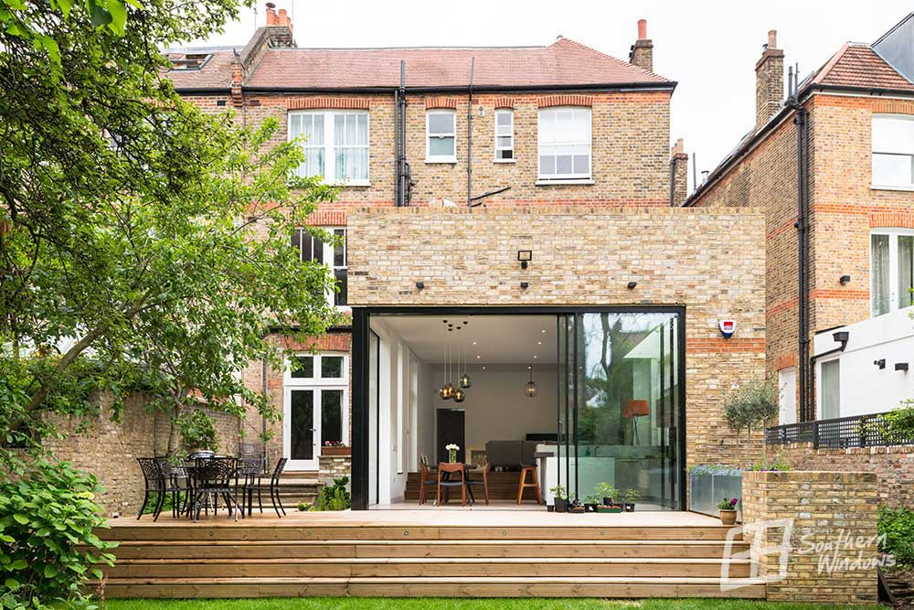 House external with Hi-finity sliding doors from Southern Windows