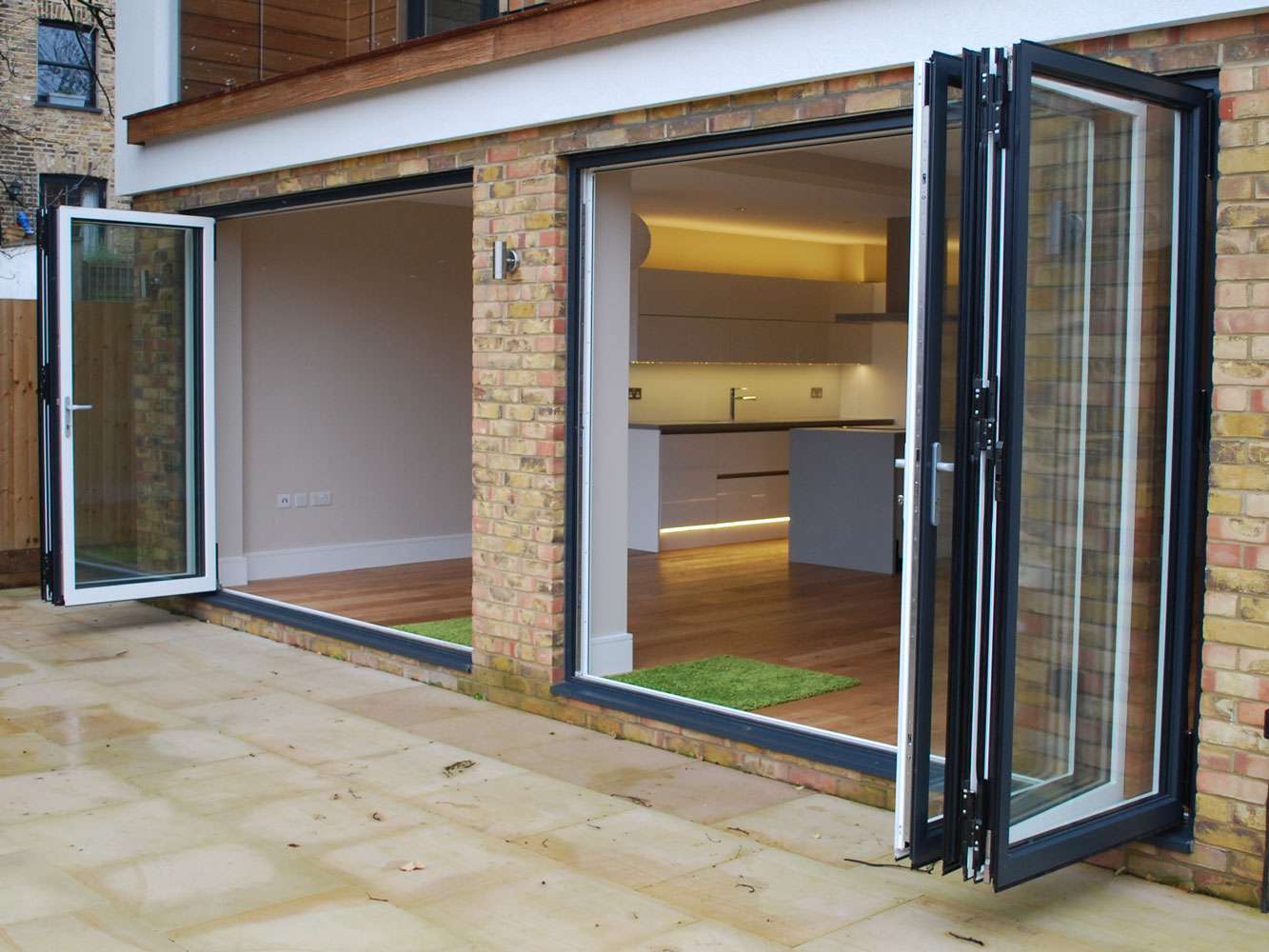 Bi-fold doors, Reynaers CF68 installed by Southern Windows