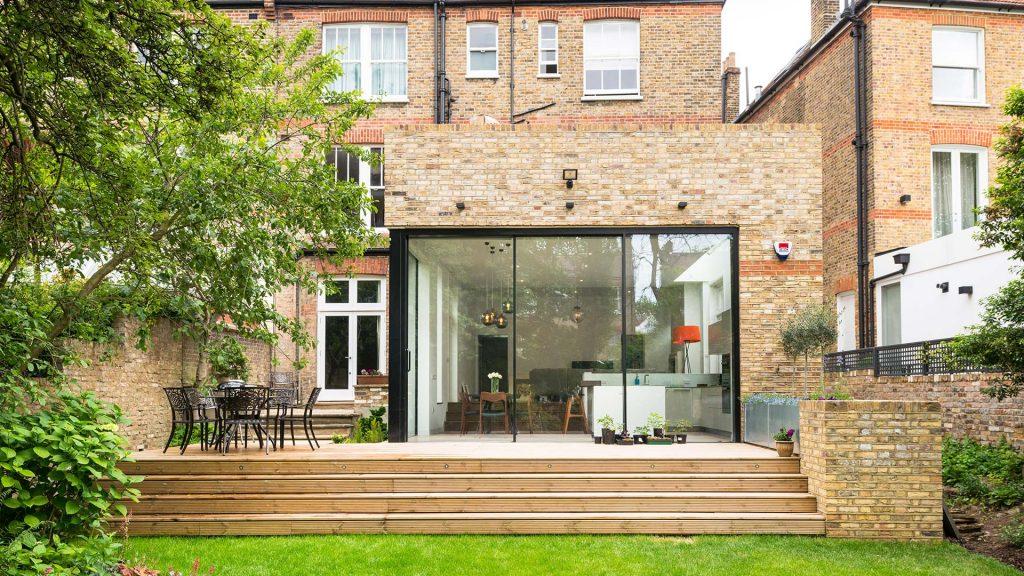 Reynaers, 3-pane aluminium patio doors, Hi-Finity