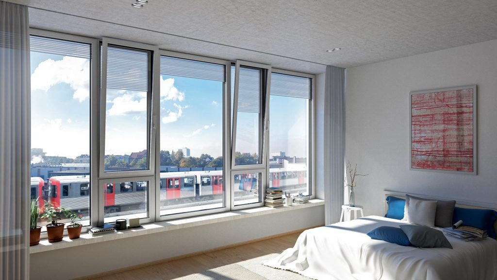 Aluminium Tilt and turn windows from Schueco AWS 120