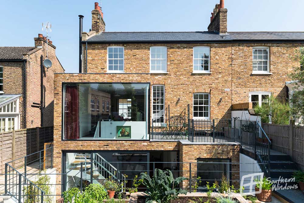 Bespoke aluminium glazing installed by Southern Windows in Battersea