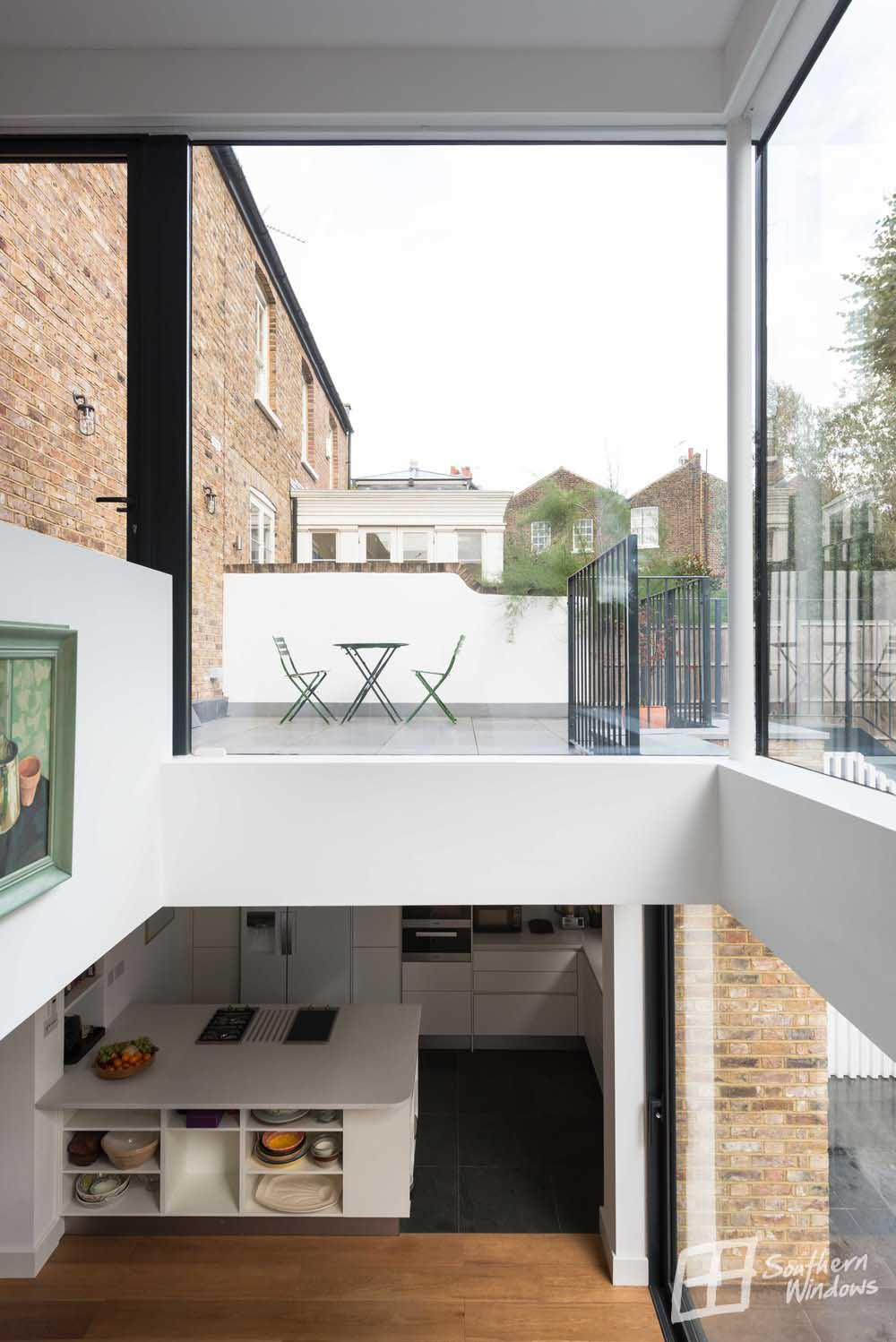 Battersea - large frameless glazing by Southern Windows