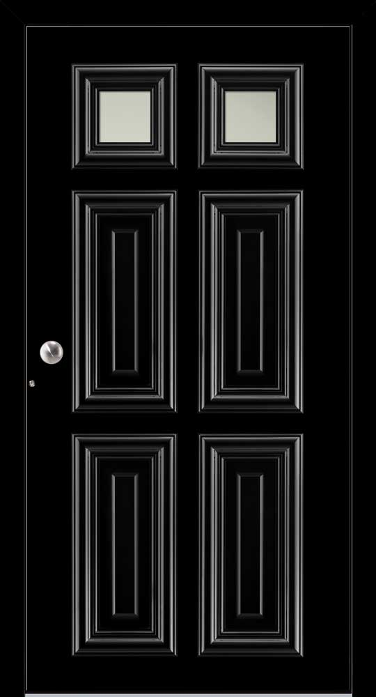 London Villa Schuco door in black