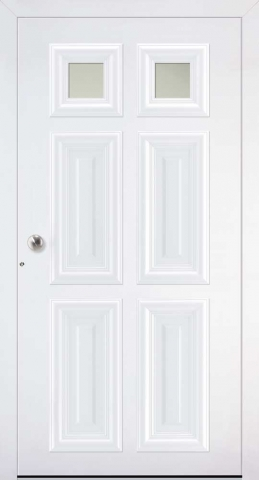 London Villa Schuco doors in white