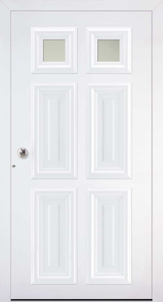 London Villa Schuco doors in white