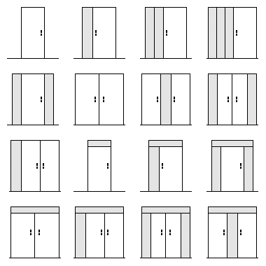 Residential Entry Door Configurations
