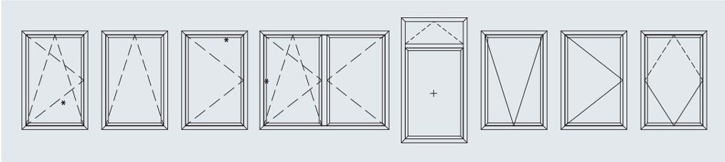 Schuco, Tilt & turn, AWS 70HI configurations