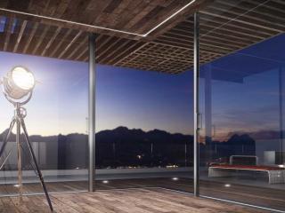 Supreme S650 sliding doors in open corner configuration