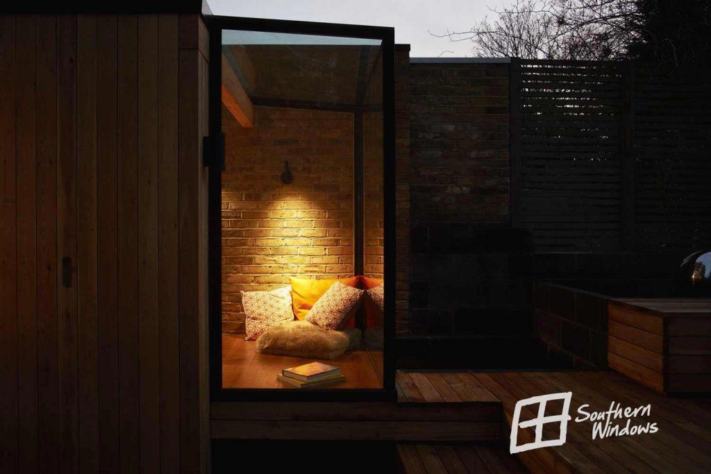 Bespoke aluminium glass box extension in North London
