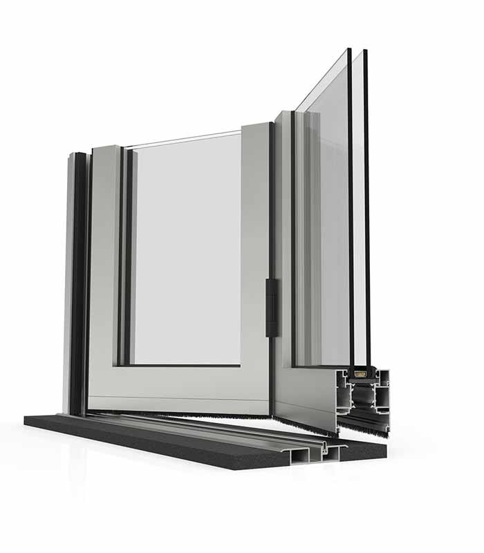 Cortizo Bi-folds, threshold detail