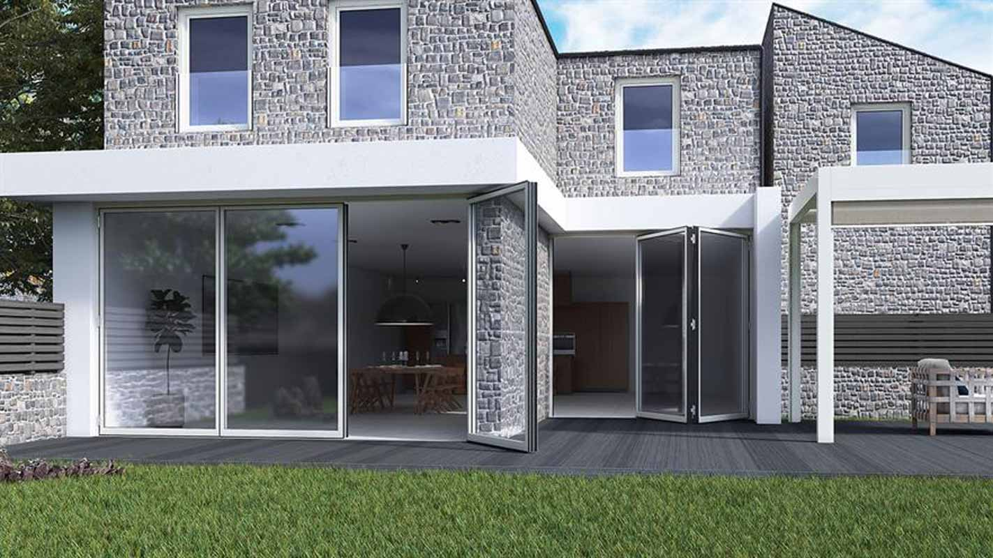 SF85 Aluminium Bi-folding doors