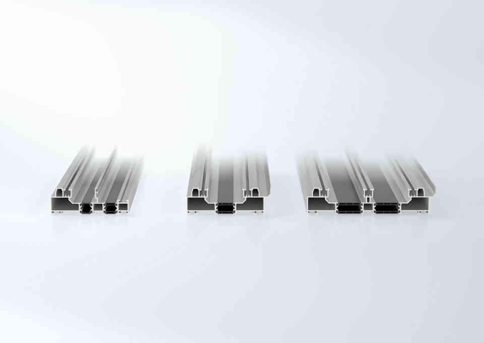Schuco ASE60-80 door system track options